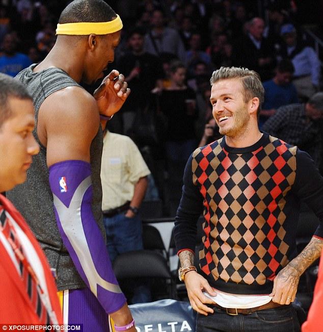 Звезда NBA Дуайт Ховард и футболист Бекхэм