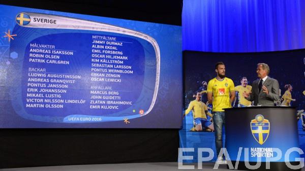 Заявка сборной Швеции на Евро-2016