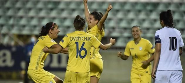 Женская сборная Украины разгромила Грецию в отборочном матче Евро-2022