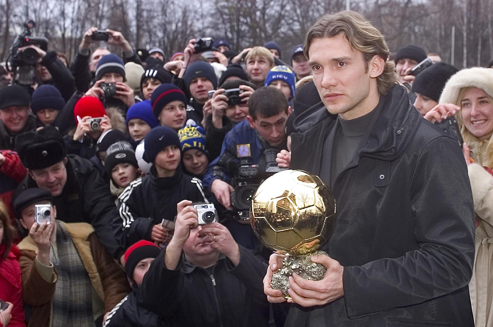 Андрей Шевченко получил свой Золотой мяч в 2004 году
