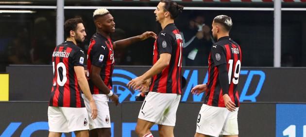 Дубль Ибрагимовича принес Милану победу над Интером