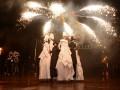 Огонь и танцы: Яркие фото с церемонии открытия чемпионского матча во Львове