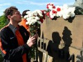 Игроки Шахтера в Ужгороде возложили цветы к монументу освободителям