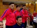 Реакция игроков футзальной Барселоны на победный гол в ворота ПСЖ