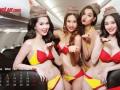 Стюардессы устроили стриптиз в самолете для игроков сборной Вьетнама