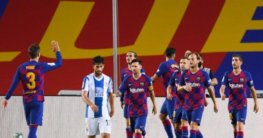 Барселона - Эспаньол 1:0 видео гола и обзор матча чемпионата Испании