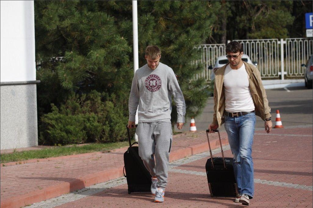 Динамовцы заезжают на базу