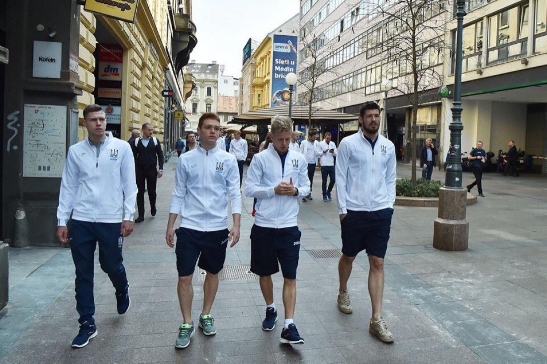 Игроки сборной Украины прибыли в Загреб