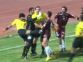 В Катаре судья во время драки отправил футболиста в нокдаун
