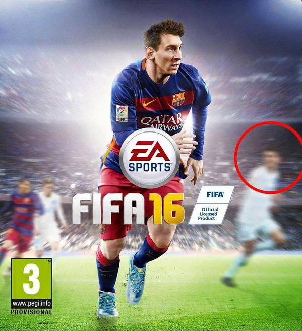 Обложка новой FIFA 16