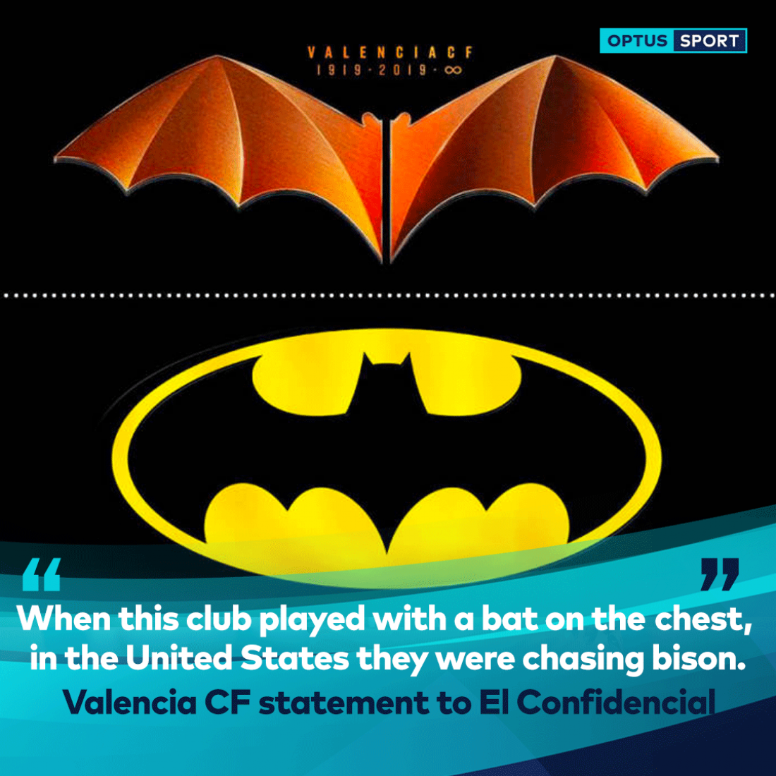 Новый логотип Валенсии и эмблема Бэтмена
