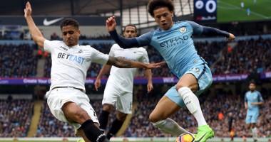 Манчестер Сити - Суонси Сити 2:1 Видео голов и обзор матча чемпионата Англии
