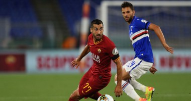 Рома - Сампдория 2:1 видео голов и обзор матча чемпионата Италии