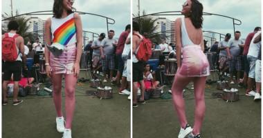 Девушка Неймара  в откровенном наряде станцевала тверк на карнавале в Бразилии