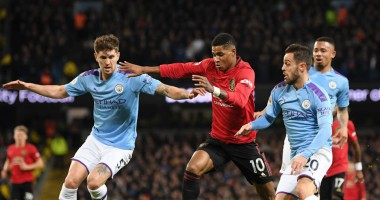 Манчестер Сити - Манчестер Юнайтед 1:2 видео голов и обзор матча АПЛ