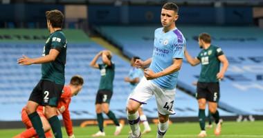 Манчестер Сити - Бернли 5:0 видео голов и обзор матча АПЛ