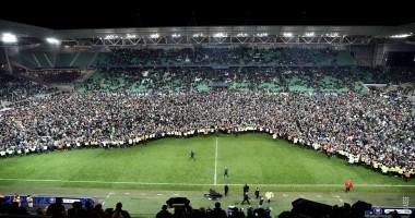 Фанаты Сент-Этьенна на поле отметили первый за 38 лет выход команды в финал Кубка Франции