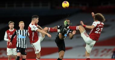Арсенал - Ньюкасл 3:0 видео голов и обзор матча АПЛ