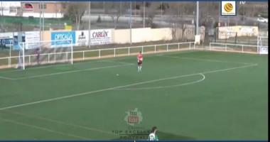 Испанский вратарь забил смешной гол со своей половины поля