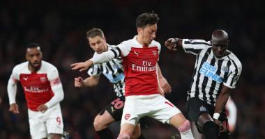 Арсенал - Ньюкасл 2:0 видео голов и обзор матча АПЛ