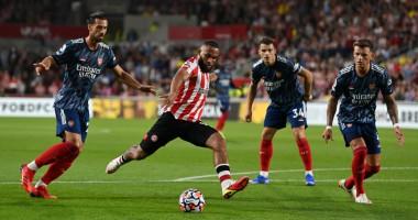 Брентфорд - Арсенал 2:0 видео голов и обзор матча чемпионата Англии