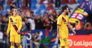 Леванте - Барселона 3:1 видео голов и обзор матча чемпионата Испании