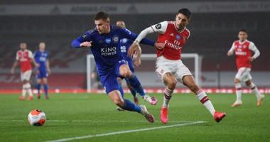 Арсенал - Лестер 1:1 видео голов и обзор матча чемпионата Англии