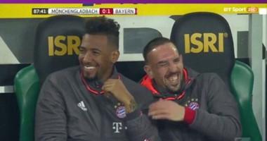 Истерика Роббена после замены вызвала смех на скамейке Баварии