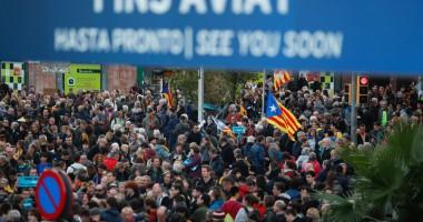 В Испании продолжается акция протеста за независимость Каталонии
