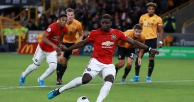Вулверхэмптон - Манчестер Юнайтед 1:1 видео голов и обзор матча АПЛ