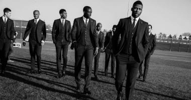 Игроки Манчестер Сити показали новые костюмы от DSQUARED2