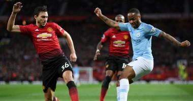 Манчестер Юнайтед - Манчестер Сити 0:2 видео голов и обзор матча АПЛ