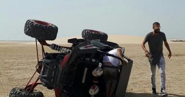 Игрок Барселоны перевернулся на багги в пустыне