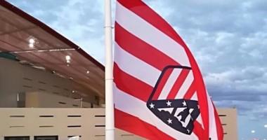 Атлетико оконфузился во время открытия новой арены, подняв перевернутый флаг