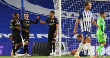 Брайтон - Манчестер Сити 0:5 видео голов и обзор матча чемпионата Англии
