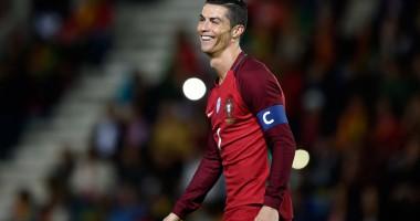 Роналду отметился странным жестом на тренировке