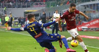 Милан - Верона 1:1 видео голов и обзор матча чемпионата Италии