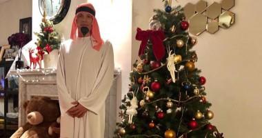 Коноплянка перевоплотился в арабского шейха и в этом образе встретил Новый год