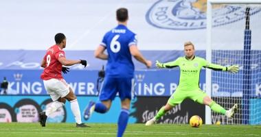 Лестер - Манчестер Юнайтед 2:2 видео голов и обзор матча чемпионата Англии