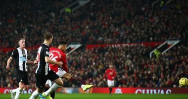 Манчестер Юнайтед - Ньюкасл 4:1 видео голов и обзор матча АПЛ