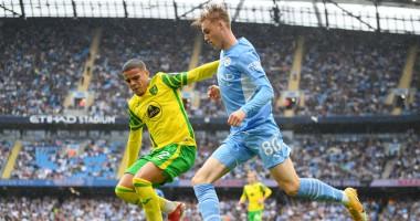 Манчестер Сити — Норвич 5:0 видео голов и обзор матча чемпионата Англии