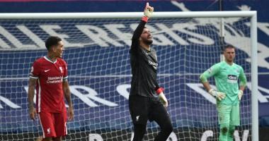 Вратарь Ливерпуля Алиссон забил победный гол в матче против Вест Бромвича