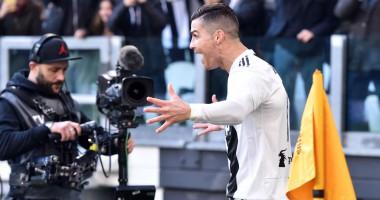 Роналду уже на второй минуте матча чемпионата Италии забил гол