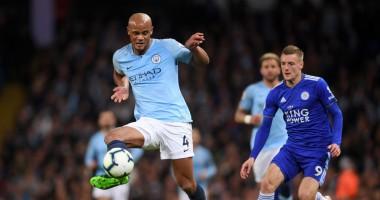 Манчестер Сити - Лестер 1:0 видео гола и обзор матча АПЛ