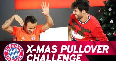 Рождественская битва: Игроки Баварии соревновались, кто быстрее наденет свитер