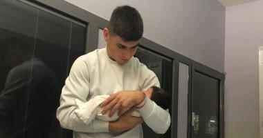 Малиновский покрестил новорожденную дочь