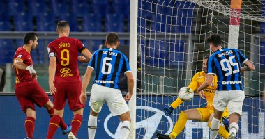 Рома - Интер 2:2 видео голов и обзор матча чемпионата Италии