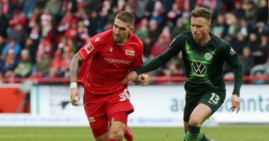 Унион Берлин - Вольфсбург 2:2 видео голов и обзор матча чемпионата Германии