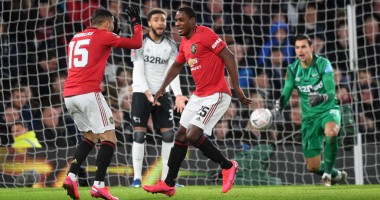 Дерби Каунти - Манчестер Юнайтед 0:3 видео голов и обзор матча Кубка Англии