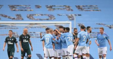 Манчестер Сити - Ньюкасл 5:0 видео голов и обзор матча чемпионата Англии